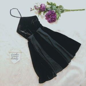 Little White Lies Black Velvet Grace Halter Dress